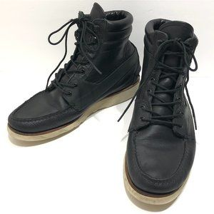 Ronnie Fieg x Sebago Black Leather Lace Up Boots